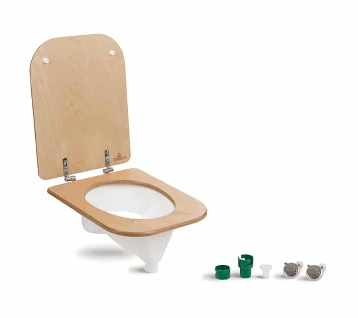 Trenntoiletten Einsatz (weiß) & Toilettensitz